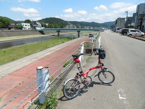 信濃川ショートツーリング by Brompton SL6-X
