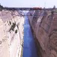 【ギリシャ】コリントス運河と列車