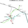 アテネ国際空港軌道系アクセス図