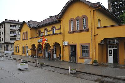 マケドニアのGEVGELIJA駅