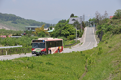 朝日村の山交バス