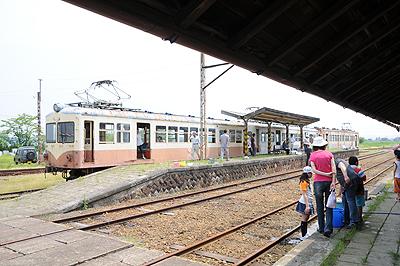 2009年6月旧若柳駅構内