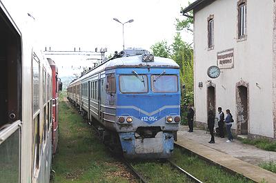 マケドニアの電車