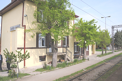 マケドニアの国境駅