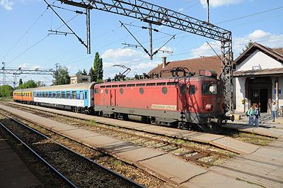 セルビアの列車