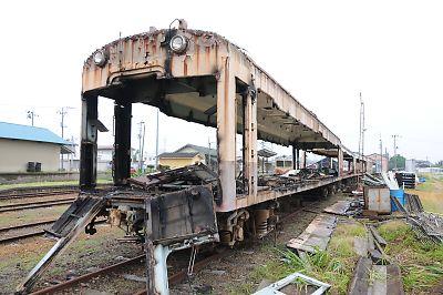 くりはら田園鉄道車両解体