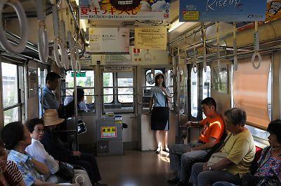 北陸鉄道・石川線車内