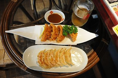 宇味家のフライ餃子と焼き餃子