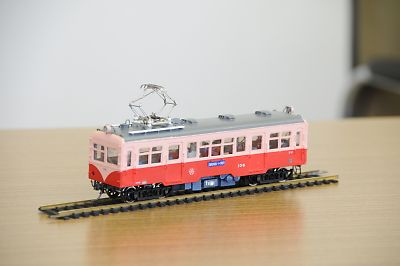 山形交通旧三山線モハ107型模型