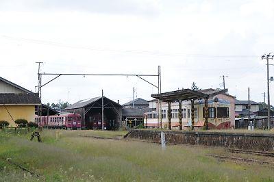くりはら田園鉄道・旧若柳駅(H21.9.18)