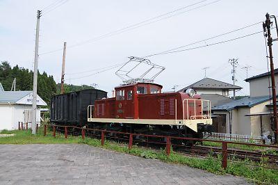 くりはら田園鉄道・旧細倉マインパーク前駅の保存車(H21.9.18)
