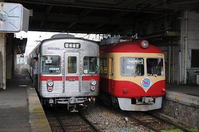 長野電鉄3500系と2000系