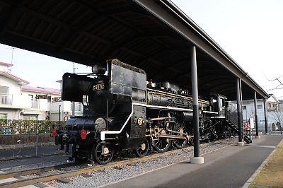 吉松駅前C55蒸気機関車