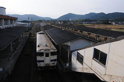 吉松駅のキハ40