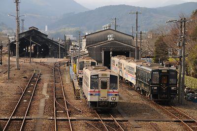 くま川鉄道人吉車庫