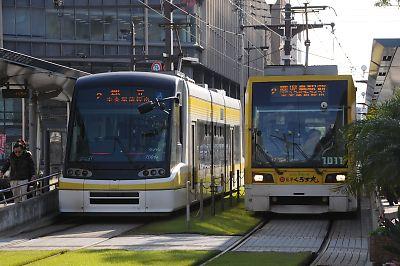 鹿児島市電ユートラムとユートラムⅡ
