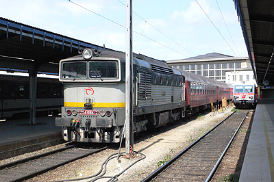 ウィーン発ブラチスラバ行き列車