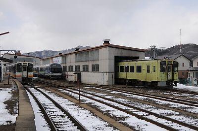 会津鉄道・会津田島駅