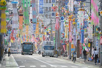 仙台七夕と仙台市営バス