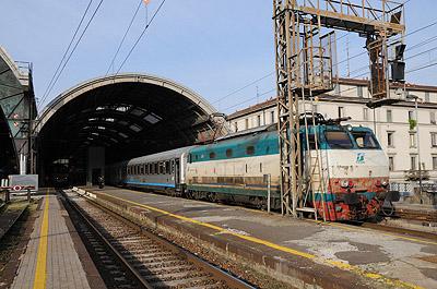 ユーロシティ(ミラノ中央駅)