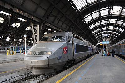 TGV(ミラノ中央駅)