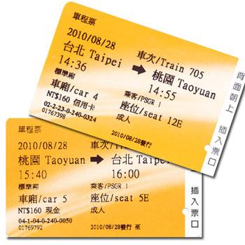 台湾新幹線のきっぷ