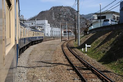 大月駅の富士急行線との連絡線