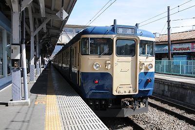 富士急行線からの直通115系(大月駅)
