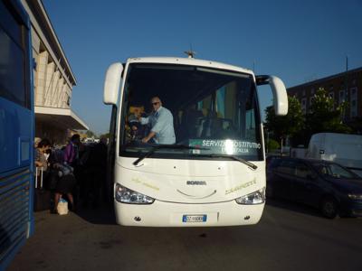 イタリアの鉄道(列車代行バス)