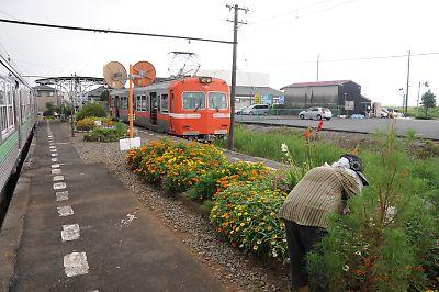 岳南鉄道(岳南江尾駅)