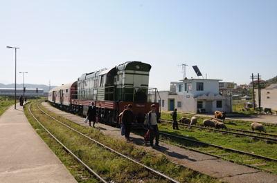 アルバニア鉄道VORE駅