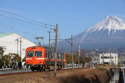 岳南鉄道と富士山