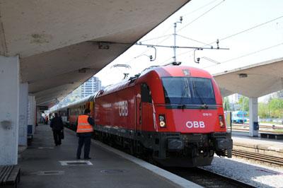 ミュンヘン発ベオグラード行きEC111(スロベニア・ルビリャーナ駅)