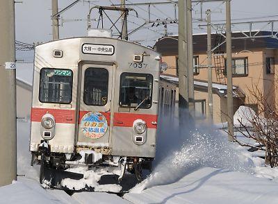 冬の大鰐線(弘南鉄道)