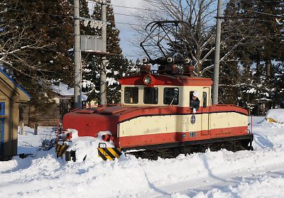ED301の除雪作業(十和田観光電鉄)
