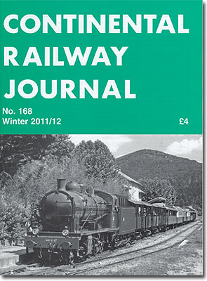 CONTINENTAL RAILWAY JOURNAL NO.168 2011/2012 WINTER