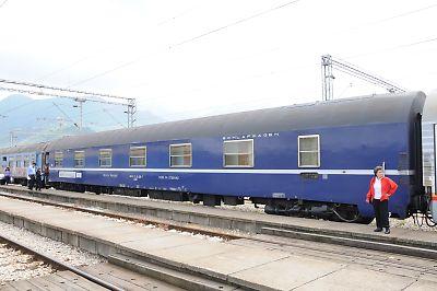 バール鉄道の個室寝台車(バール駅)