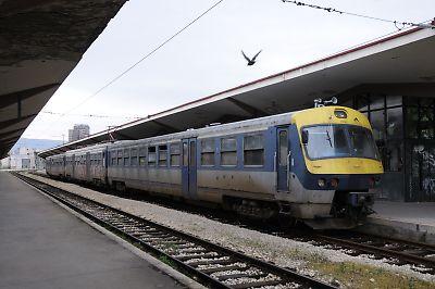 ボスニア鉄道の411型交流う電車(サラエボ駅)