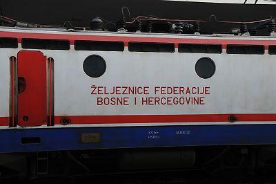 ボスニア鉄道の441型機関車(サラエボ駅)