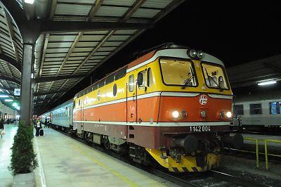 ベネチア行きEN240列車(ザグレブ駅)