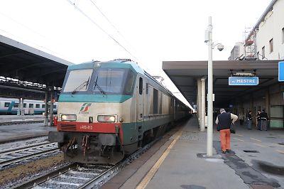 ベネチア行きEN240列車(ベネチア・メストレ駅)