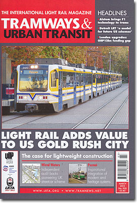 TRAMWAYS&URBANTRANSIT/2013年3月号