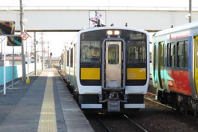 水郡線キハE130(常陸大宮駅)