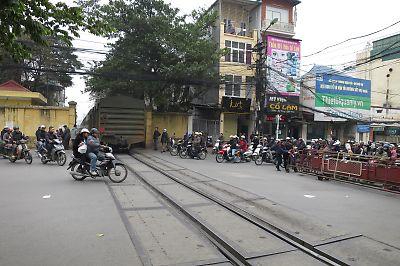 ベトナムの踏切