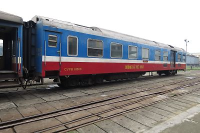 ベトナムの鉄道(電源車)