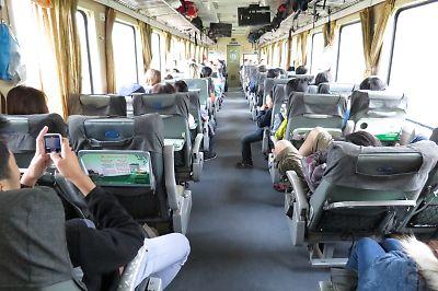 ベトナムの鉄道(ソフトシートクラス)