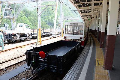 工事列車(黒部峡谷鉄道・宇奈月駅)