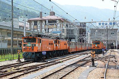 EDV形電気機関車(黒部峡谷鉄道・宇奈月駅)
