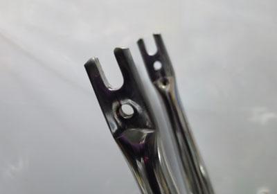 パナ製ライトウイングの大改装・フロントフォーク