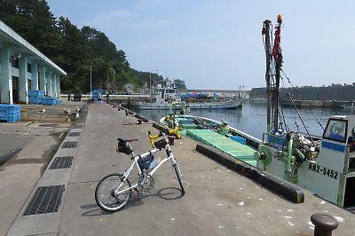 尻労漁港(DAHON DASH X20)